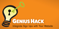 Genius Hack: Integrate Sign Ups with Your Website