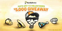 Hats off to Volunteers $5,000 Giveaway