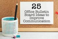25 Office Bulletin Board Ideas to Improve Communication
