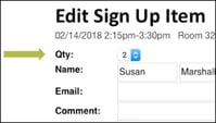 Edit Group Member's Sign Up