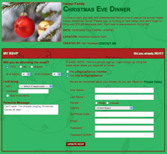 Christmas Potluck Sign-Up Template