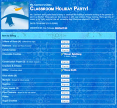 Christmas Potluck Sign Up Sheet | New Calendar Template Site