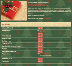 Holiday Potluck Sign-Up Sheet