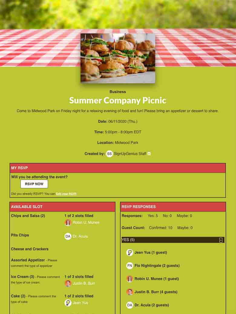 Business sign up screenshot