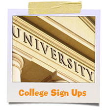 college sign ups