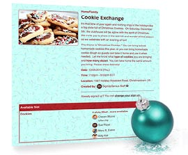 Holiday Treat Exchange Sign Up