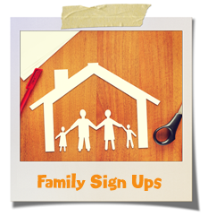 home and family sign ups