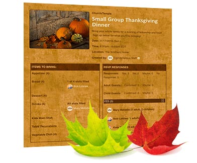 Thanksgiving Dinner Sign Up