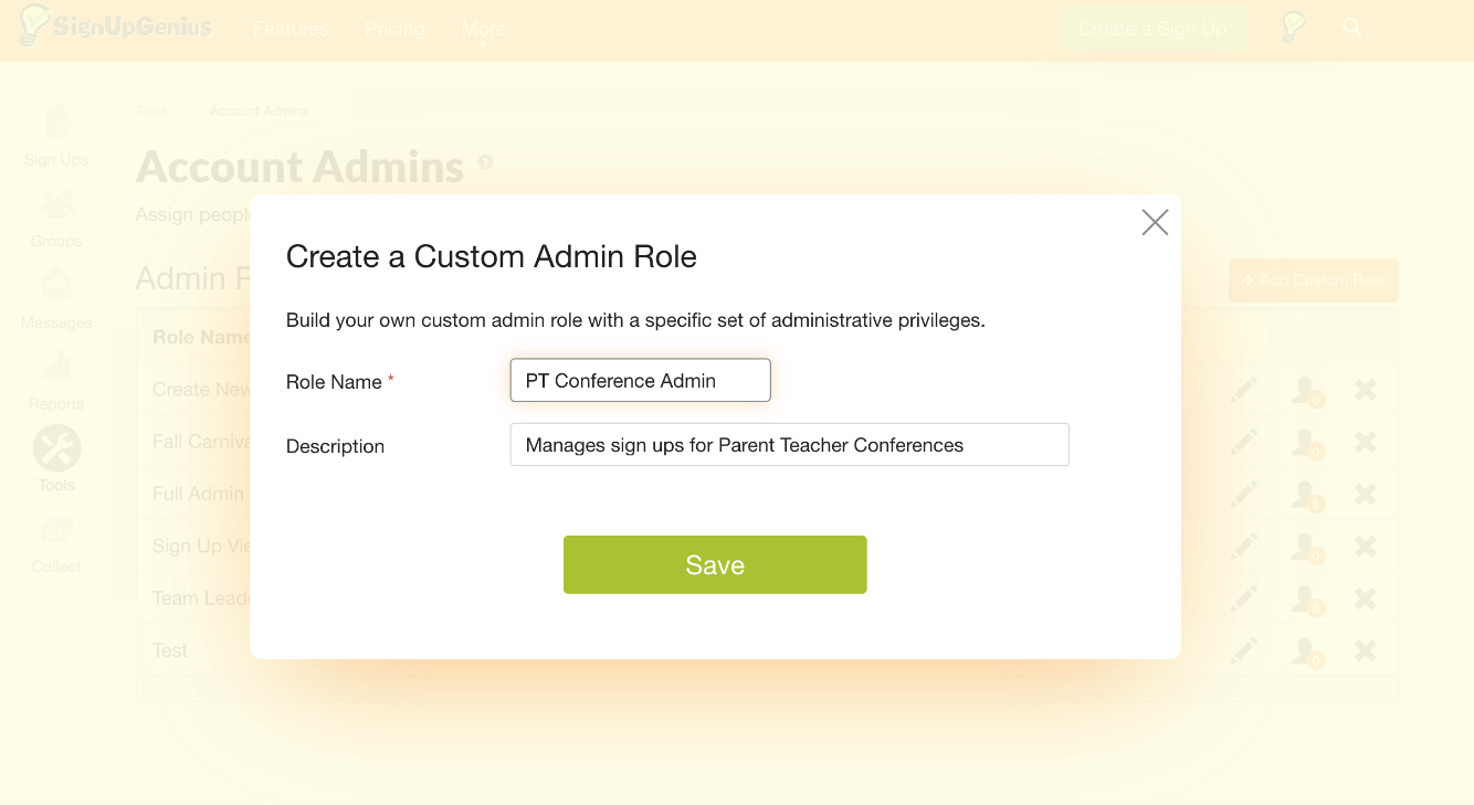Create a Custom Admin Role