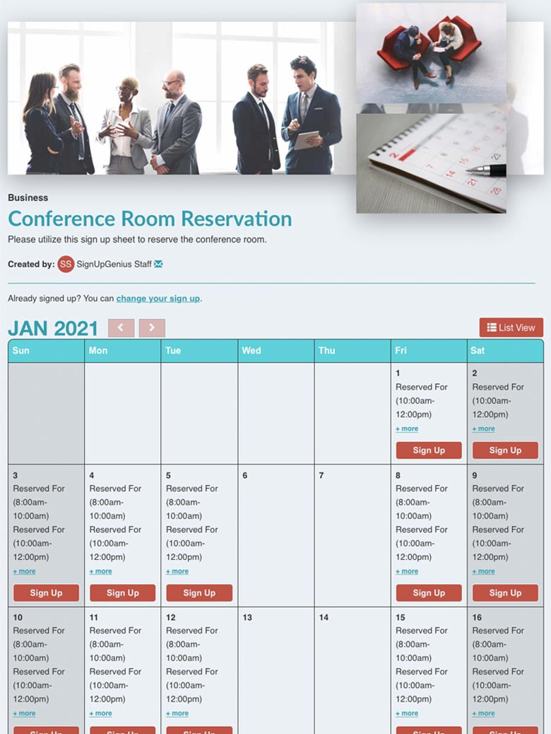 Conference Room Reservation