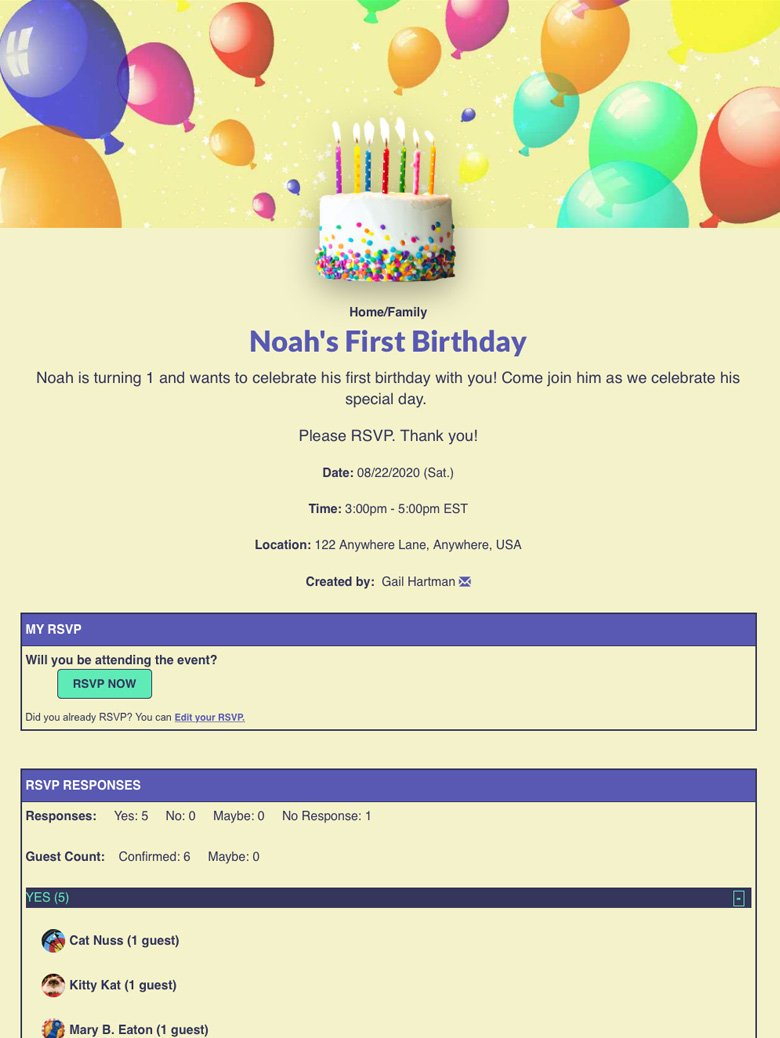 Send Baby's First Birthday Invites