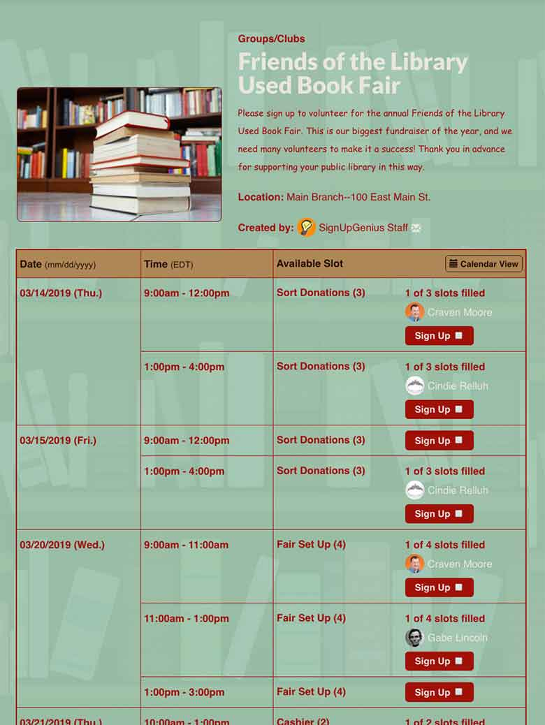 Collect Donations and Organize Library Book Drives Online