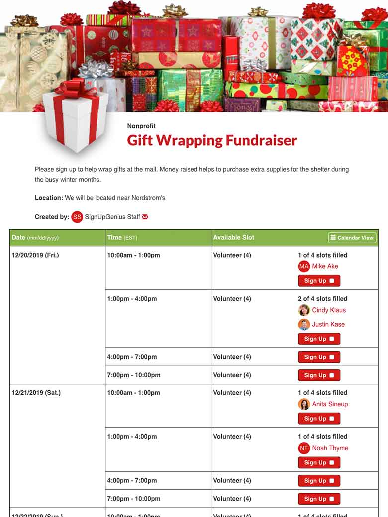 Plan a Gift Wrapping Fundraiser