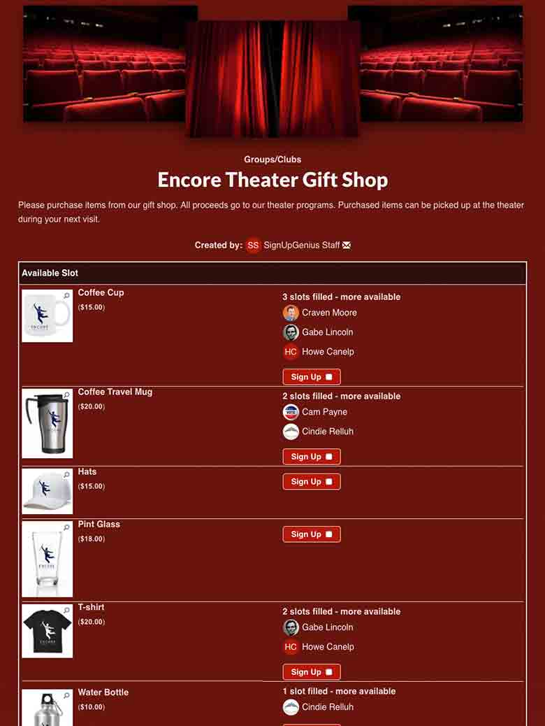 Sell Theater Products