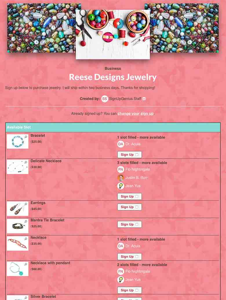 Sell Jewelry and Craft Products