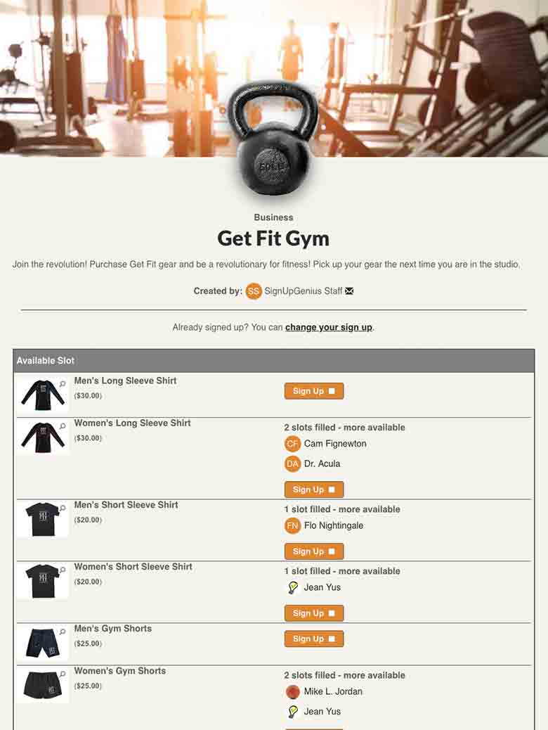 Sell Fitness Studio Merchandise