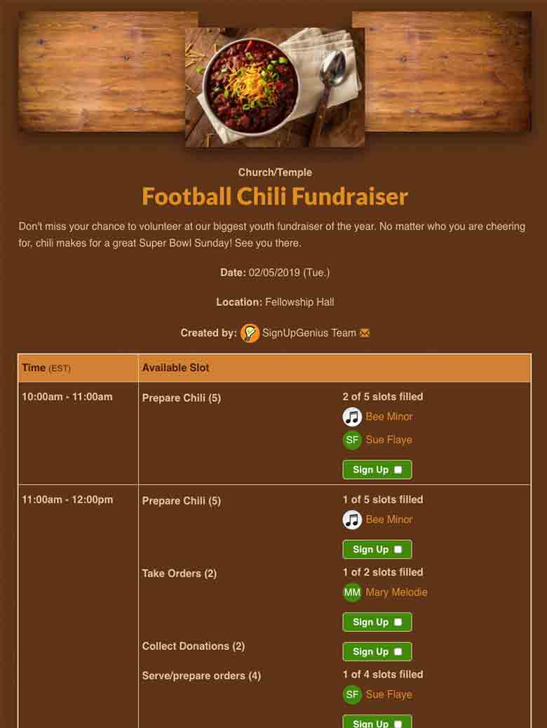 Plan a Football Fundraiser