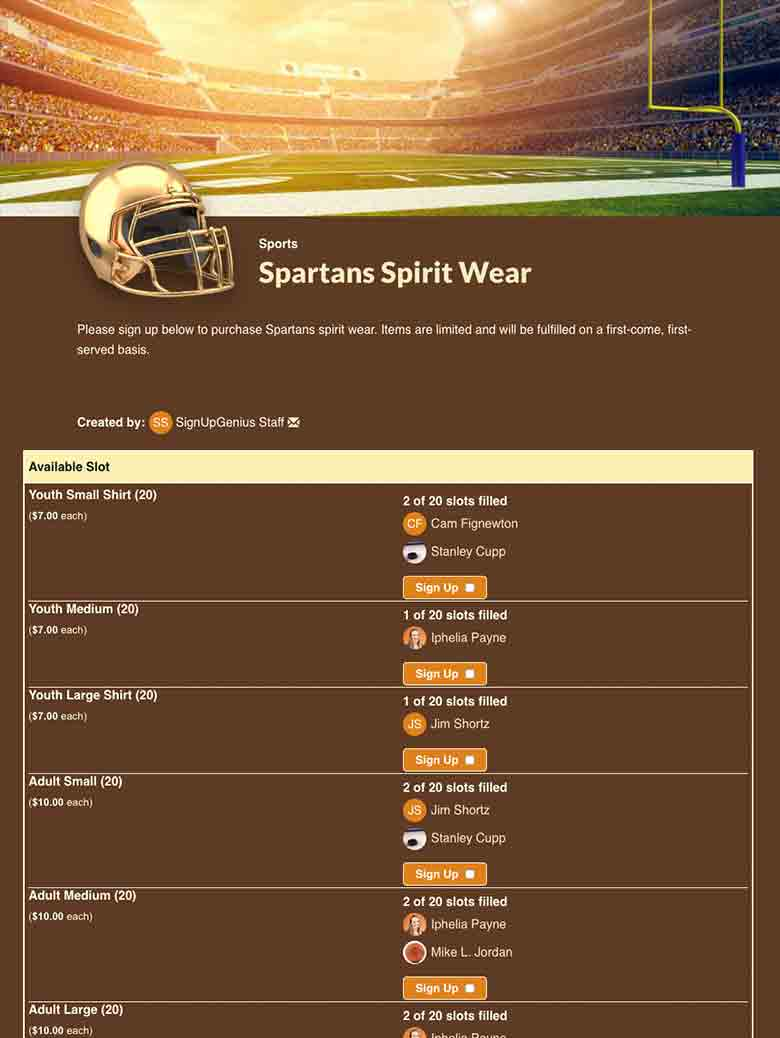Sell Team Spirit Wear