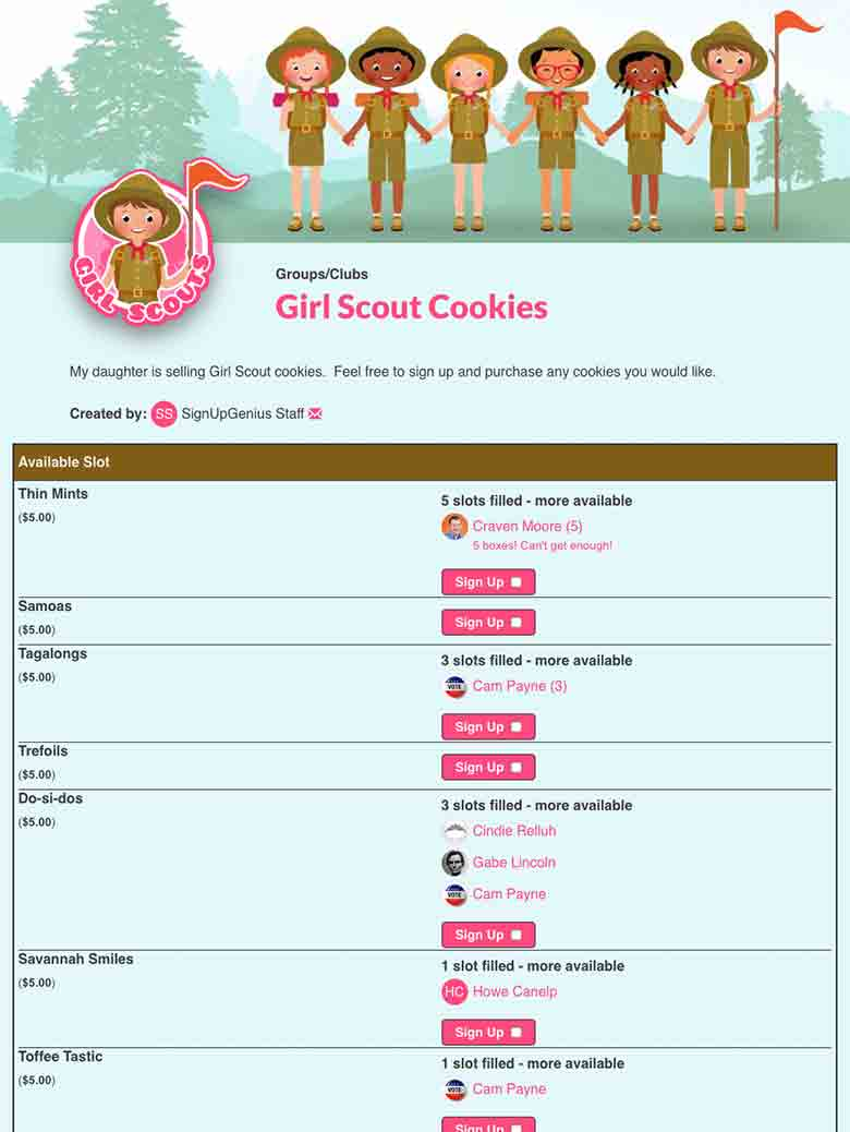 Collect Money for Cookie Sales Online