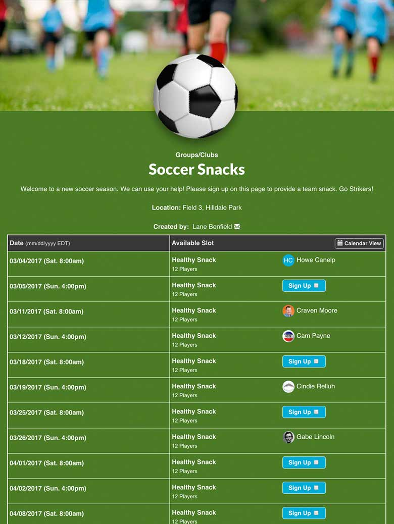 team snack schedule template theprettiotsmusic com