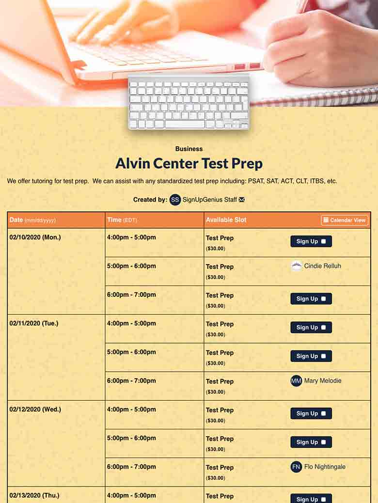 Schedule Tutoring for Standardized Test Prep