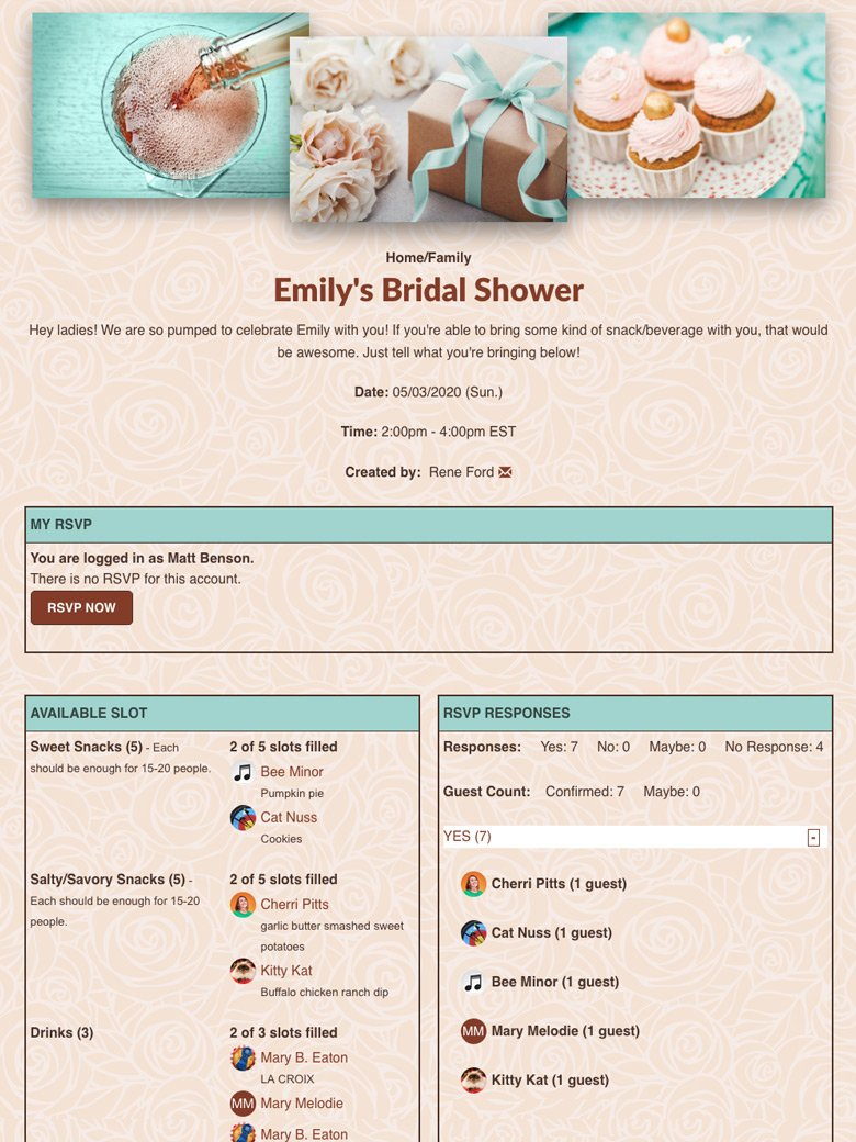 Plan a Bridal Shower