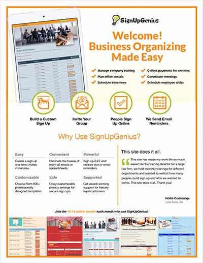 Signupgenius printables business welcome letter thecheapjerseys Choice Image