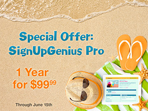 Special Offer on SignUpGenius Pro!