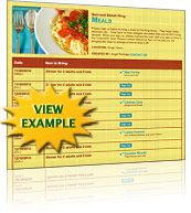 Meals for Friend Sign Up Template