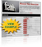 Mission Trip Sign Up Template