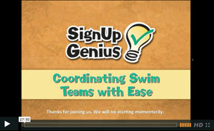 Coordinating Swim Teams: Webinar