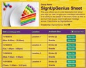 Cake sign up sheet