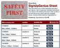 Campus Safety sign up sheet