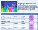 Classroom IV sign up sheet