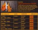 Fall Meal sign up sheet