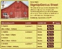 Farm Barn sign up sheet