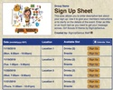 Girl Scouts III sign up sheet