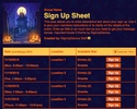 Haunted House 2 sign up sheet