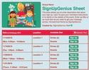 Homeschool sign up sheet
