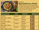 Meal VII sign up sheet