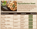 Meal VI sign up sheet