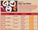 Pecan Pie sign up sheet