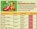 Preschool 1 sign up sheet