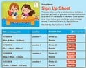 Preschool 2 sign up sheet