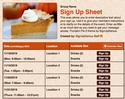 Pumpkin Pie 2 sign up sheet