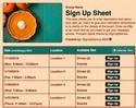 Pumpkin Spice sign up sheet