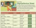 School Testing sign up sheet