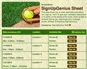 Softball III sign up sheet
