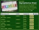 Volunteer VII sign up sheet