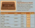 Welcome Orientation sign up sheet